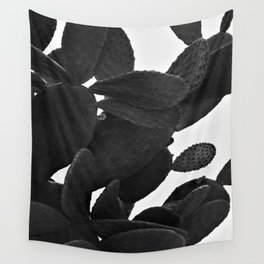 Cactus in Black And White Wall Tapestry