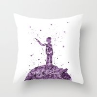 le petit prince Throw Pillows featuring Le Petit Prince The Little Prince by Carma Zoe