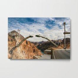 Construction of Mike O'Callaghan - Pat Tillman Memorial Bridge, Nevada Metal Print