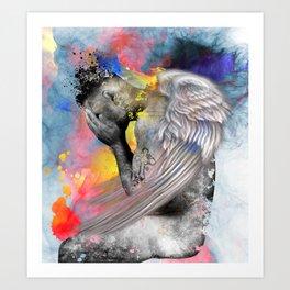 angel male nude Art Print