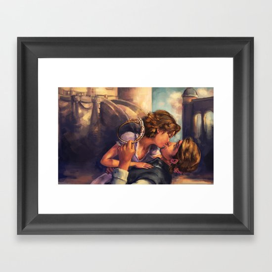 A Kiss for Corona Framed Art Print