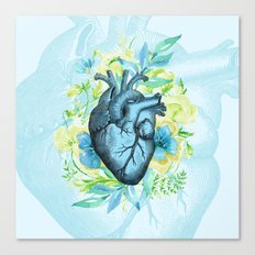 Rest Your Heart Here, Dear Canvas Print