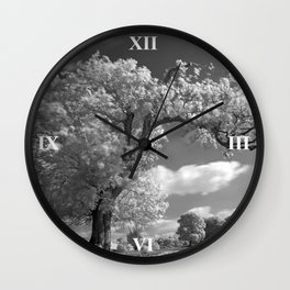 A Tree Blows in the Wind Wall Clock