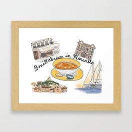 Bouillabaisse in Marseille Framed Art Print