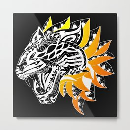 Golden Tiger Ecopop Metal Print
