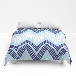 Blue Skinny Chevron Comforters