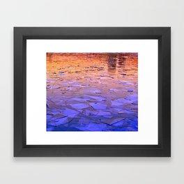 Icy Framed Art Print