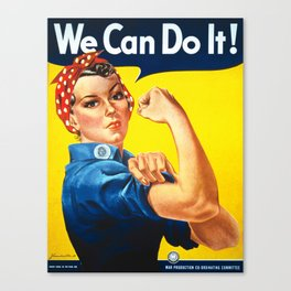 We can do it!, vintage poster, classic poster Canvas Print