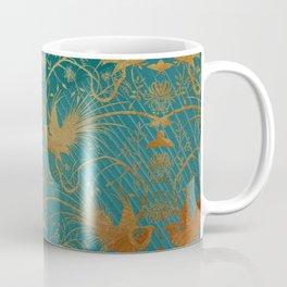"""""""Turquoise and Gold Paradise Birds"""" Coffee Mug"""