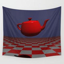 TEA POT POV RAY TRACING CGI 8000x6000 Pixels 32 Bit Color Palette Wall Tapestry