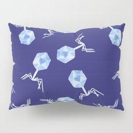 Watercolor Bacteriophage Pattern Pillow Sham