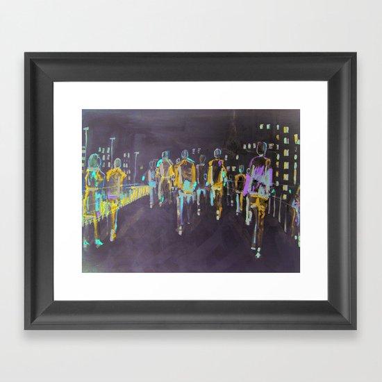 foot traffic 03 Framed Art Print
