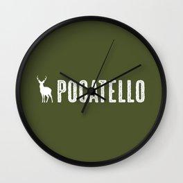 Deer: Pocatello, Idaho Wall Clock