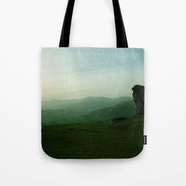 Sunset at Dinas Bran Tote Bag