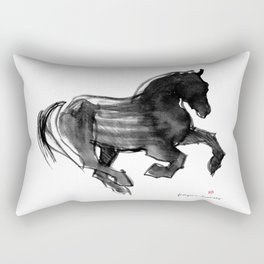 Horse (Devil cantering) Rectangular Pillow