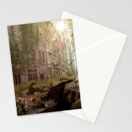 Post apocalytic matte painting Stationery Cards