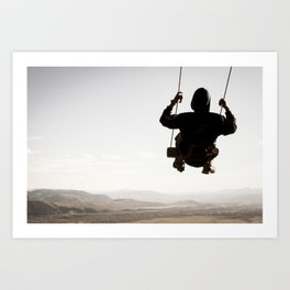 Swing Above The Mountains Art Print