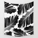 Tropical Black Banana Leaves Dream #1 #decor #art #society6 by anitabellajantz