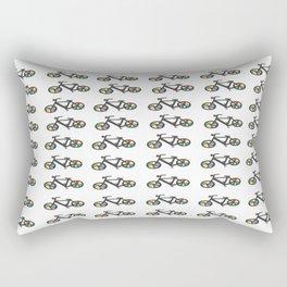 Rainbow Bike Print Rectangular Pillow