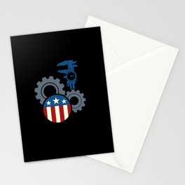 Machinist Flag Tools Machine Operator Machining Stationery Cards