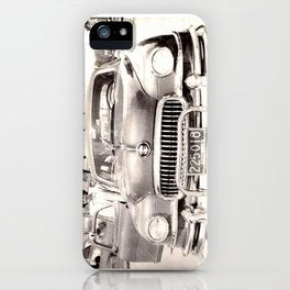 Mom and her Antique Car  iPhone Case