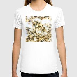 Glamorous Gorgeous Gold Strike Marble Pattern T-shirt