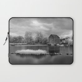 France, A Weir on the Mayenne River (version 2) Laptop Sleeve