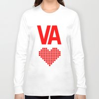 virginia Long Sleeve T-shirts featuring Virginia Love by Hum Chee