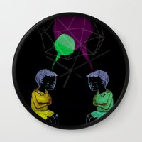 twins Wall Clocks featuring Twins by Valentina Gruer
