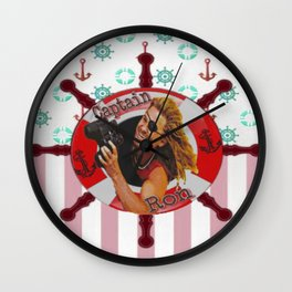 Ron Is My Captain Wall Clock