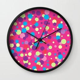 Seamless pattern with color circles. Polka dot. Wall Clock