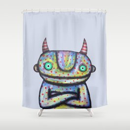Devil with Good Intentions Shower Curtain