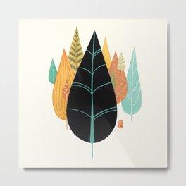 Fair Forest- Retro Orange Palette Metal Print