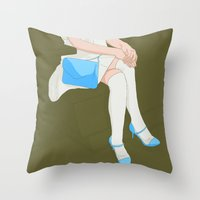 legs Throw Pillows featuring legs by ministryofpixel