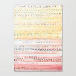 Sunset Stitch Canvas Print