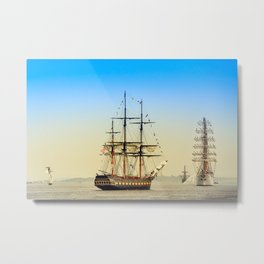Sail Boston - Oliver Hazard Perry Metal Print
