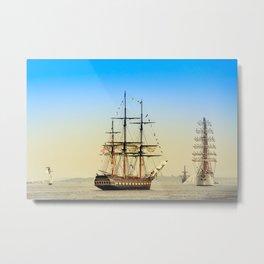 Sail Boston - Oliver Hazard Perry Metal Print