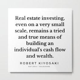 51 |  Robert Kiyosaki Quotes | 190824 Metal Print