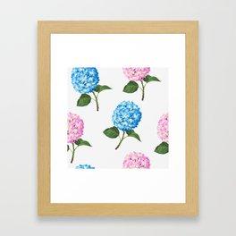 Hydrangea Flowers Framed Art Print