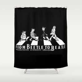FROM BEETLE TO BEATLE Shower Curtain