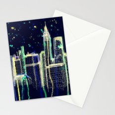 Dusk Falls Over Manhattan Stationery Cards