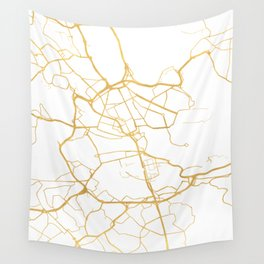 STOCKHOLM SWEDEN CITY STREET MAP ART Wall Tapestry