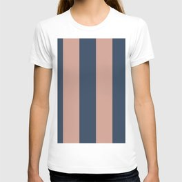 5th Avenue Stripe No. 1 in Smoked Salmon and Midnight Blue T-shirt