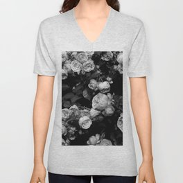 Roses are black and white Unisex V-Neck