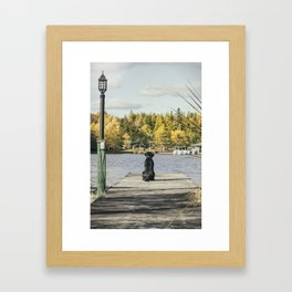 Charlie on the Pier Framed Art Print