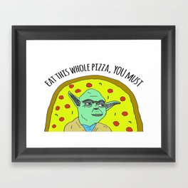 Pizza Wars: The Empire Orders Pizza Framed Art Print