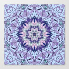 Lavender Meditation Kaleidoscope Canvas Print