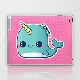 Kawaii Blue Narwhal Laptop & iPad Skin