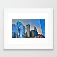 minneapolis Framed Art Prints featuring Minneapolis by Brent Rousseau