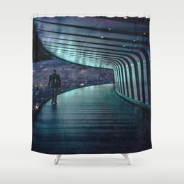 The Space Station-Earth in the Distance Shower Curtain